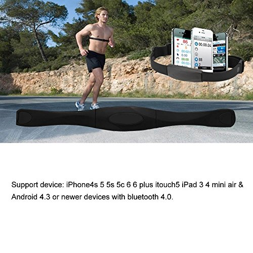 paxten (TM) Sangle de poitrine sangle Moniteur de fréquence cardiaque Sport Bluetooth 4.0sans fil Bande de Course à Pied Fitness Exercice pour iPhone iPad Android