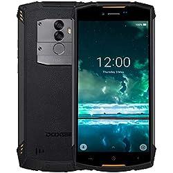DOOGEE S55 Lite extérieur Smartphone - 5.5 Pouces (Ratio 18: 9) Android 8.1, IP68 étanche/antipoussière/Antichoc, 5500mAh Charge Rapide de la Batterie, Quad Core 2 Go + 16 Go - Orange