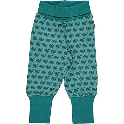 Maxomorra Baby Pants Rib Blau 50/56 (Cuff Capri Hose Jeans)