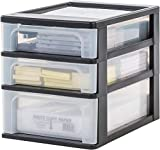 IRIS 4-Drawer Storage Tower, Frosted White.