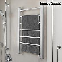 InnovaGoods Toallero Eléctrico, Pared y Suelo, Aluminio, Gris, 55x91x35 cm