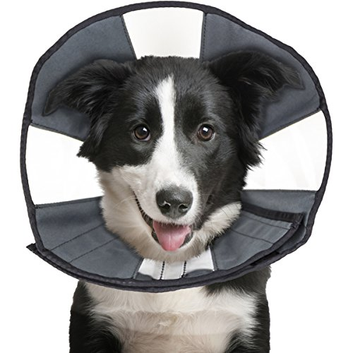 ZenPet ProCone Pet E-Collar for Dogs and Cats - Comfortable Soft Recovery Collar is Adjustable for a Secure and Custom Fit - Easy for Pets to Eat and Drink - Works with Your Pet\'s Collar - Large