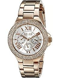 SO & CO New York 5019.4 - Reloj de pulsera Cuarzo Mujer correa deAcero inoxidable Oro