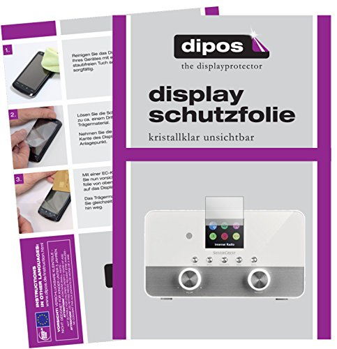 dipos I 6X Schutzfolie klar passend für Silvercrest 4 in 1 Stereo Internet Radio Folie Displayschutzfolie
