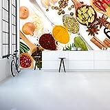 Kräutergewürze Wandbild Essen Foto-Tapete Küche Restaurant Wohnkultur Erhältlich in 8 Größen XX-Groß Digital