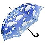 witziger Schirm Stockschirm Regenschirm bayrischer Himmel Wolken Lilienfeld Geschenk