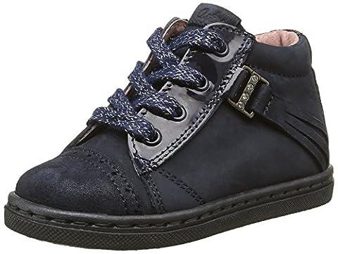 Aster Rifia, Chaussures Premiers pas bébé fille, Bleu (Marine), 24