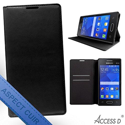 Housse étui Magnétique Noir Samsung Galaxy Core Prime G360