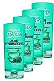 Garnier Fructis Lotion Tonique Soin Démêlant Aloe Hydra Bomb pour Cheveux Normaux à Déshydratés 800 ml - Lot de 4