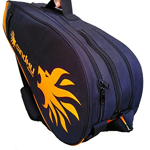 Sindhu Sports Pro-3003 Badminton Racquet Kit Bag Cover Case (Yellow Black)