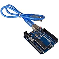 Kuman UNO R3 Board ATmega328P with USB Cable for Arduino - Compatible With UNO R3 Mega 2560 Nano Robot for Arduino IDE AVR MCU Learner K53