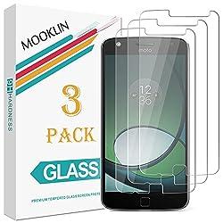 [3 Stück] MOOKLIN Motorola Moto Z Play Panzerglas Displayschutzfolie,[Anti-Kratzen] Handy Schutzfolie für Motorola Moto Z Play