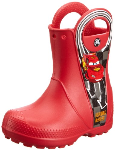 Crocs - Stivali Handle It Mcqueen Rain Boot, Unisex, Rosso (Cardinal Red), 38 (6 uk)