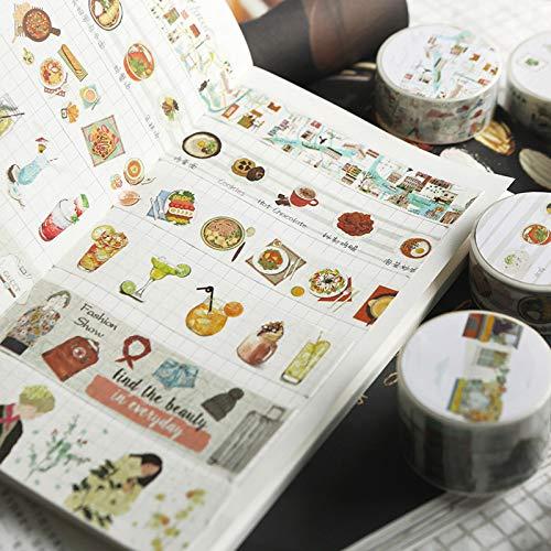 12 stücke Frische Kunst Lebensmittel Und Leben Washi Klebeband Klebeband DIY Scrapbooking Aufkleber Label Masking Craft Band ()