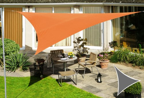 Voile d'Ombrage Terracotta Triangle Rectangle 4,2m - Imperméable - 160g/m2 - Kookaburra