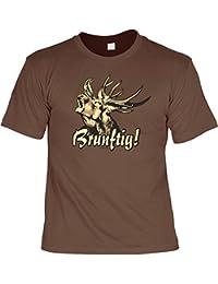 T-Shirt - Röhrender Hirsch - Brunftig - lustiges Sprüche Shirt für Trachten Fans mit Humor - Geschenk Set mit Funshirt und Minishirt