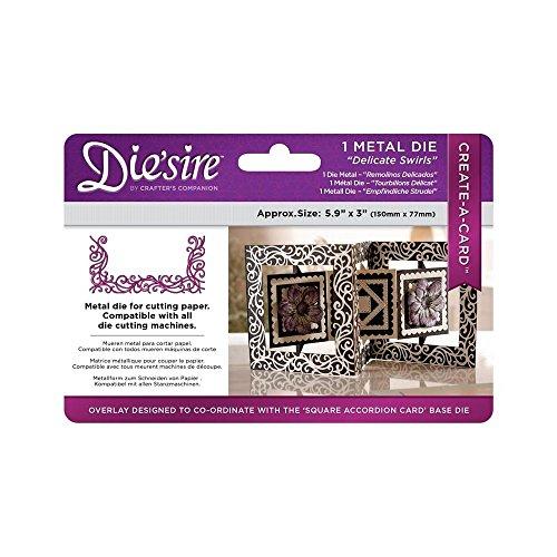 Preisvergleich Produktbild Crafter's Companion Die'sire Create a Card - Delicate Swirls Square Overlay Die