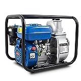 BITUXX Benzin Schmutzwasserpumpe 3' Wasserpumpe Motorpumpe Kreiselpumpe Gartenpumpe Teichpumpe 6,5PS, 60.000l/h, max. Förderlänge 30m, 3Zoll Anschluss