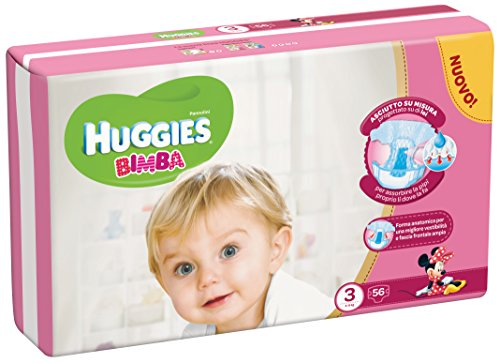 Huggies – Bimba – Nappies – Size 3 (4 – 9 kg) – 56 Nappies 51Dto9fhT2L