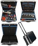 Famex 606-79 Werkzeug Set High-End Qualität in Trolley ABS Schalenkoffer 36L