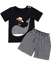 45f9f3c0ac20f Gyratedream Ensemble de Vêtements Été Bébé Garçon Fille T-Shirt Tops Manches  Courtes Dauphin Motif