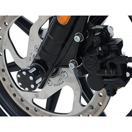 Schutz-Gabel R & G Racing schwarz Harley Davidson Street 750–442296–Achse