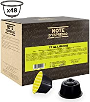 Note d'Espresso Lemon Tea Capsules Exclusively Compatible with Nescafé* and Dolce Gusto* capsule machines 12g x 48 Capsules