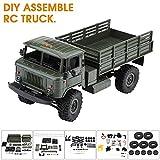 VGEBY Militär LKW Spielzeug, 1:16 4CH Vierrad Montieren Fernbedienung Fahrzeug Kit mit Servo & Motor
