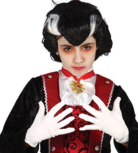 520 - ein Paar weisse Kinder-Handschuhe, 22 cm (Halloween Guirca)