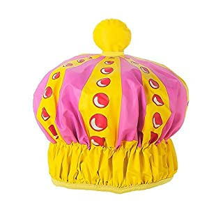 alltoshop Queen Krone Duschhaube - Königin der Dusche Duschkappe Badehaube Duschen Haarschutz