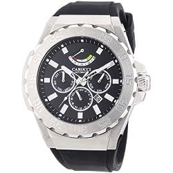 Carucci Watches Men's Automatic Watch Marano di Napoli CA2204BK with Rubber Strap