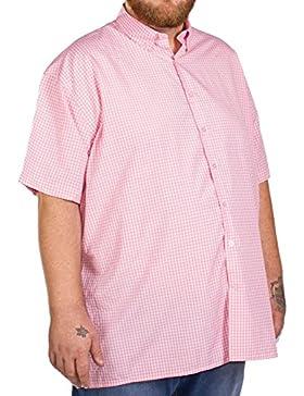 Fitzgerald Big maglietta a maniche corte da uomo rosa a quadretti 2x L 3X L 4X L 5X L 6x L 7x L 8x L