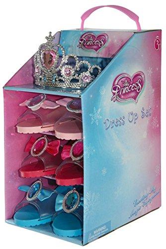 Set of 3Kinder Dressing bis Play Schuhe mit Sparkling Prinzessin (Für Kinder Dressing Up)