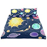 ISAOA Aamzing Space Crystal Velvet Set Bezüge Set 167,64 x 228,6 cm Fashion Style Steppdecke Bettbezug 3-teilig Bettbezug für Kinder