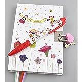 Kinder verschließbares geheimes Tagebuch  Tagebuch Schreiben Notebook - Schreiben Notebook mit duftender Stift .. Blütenblatt Fee