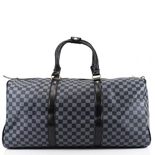 LeahWard® Damen Große Größe Tragetaschen Reise Handtaschen Groß Marke nett Schultertaschen 41412 H35cm x W61cm x D23cm Schwarz
