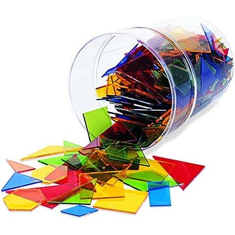 Learning Resources - Juego de construcción para niños (450 piezas, 15 formas), multicolor