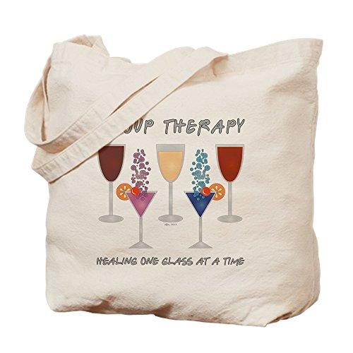 CafePress–Gruppe Therapie–Leinwand Natur Tasche, Reinigungstuch Einkaufstasche, canvas, khaki, S (Waschen Pong Bier)