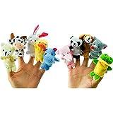 drasawee 10PCS Kinder Finger Animal Puppets Spielen Spiel lernen Story Toy Baby Puppe