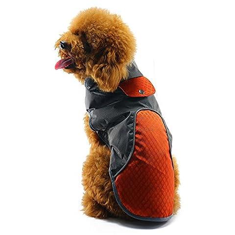 Outdoor Dog Coat, Sourcingbay Lightweight Reflective Windproof Sweater Warm Jacket Dog Raincoats for Dogs Orange M Size (Orange)