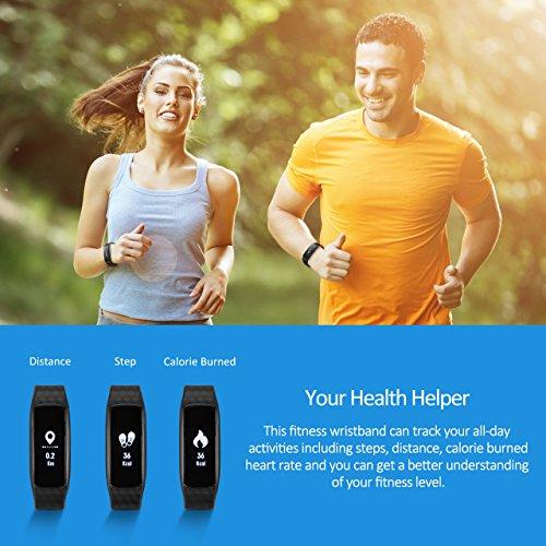 Mpow Fitness Tracker mit Pulsmesser Bluetooth 4.0 Smart-Herzfrequenz Monitor Schrittzähler Schlafanalyse Aktivitätstracker Kalorienzähler Schlaftracker für Android und iOS Smart Phones. - 2