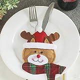 Weihnachten Dekoration Weihnachtsbesteck-Tasche Round Face Elk Aufhängen Deko für Zuhause, Kaminsims, Weihnachten
