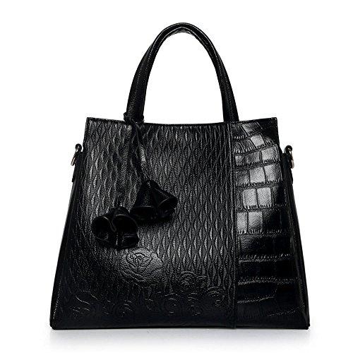 FavoMode, Borsetta da polso donna nero Schwarze Handtasche taglia unica Schwarze Handtasche