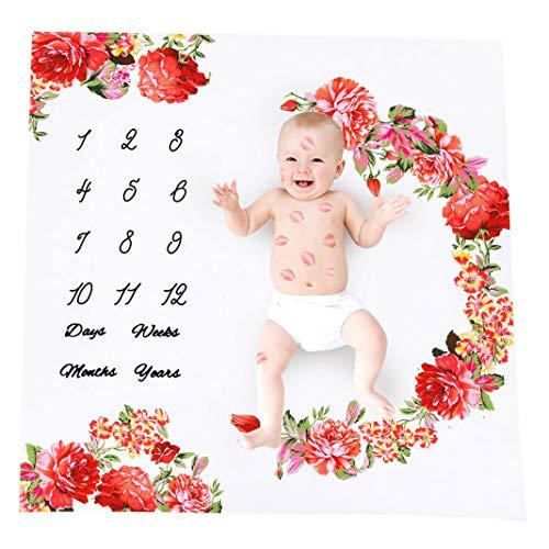 Baby Fotografie Decken Meilensteine | Baby Fotografie Prop Teppiche | Baby Monatlich Wachsen Foto Hintergrund | Baby Girl & Boy Großartig Geschenk | Bettwäsche Wickel Swaddle -