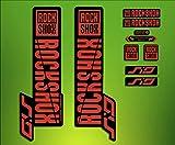 PEGATINAS STICKERS Federgabel Rock Shox SID 2018elx65Fork Aufkleber Decals MTB, rot