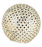 Kugellampe, Leuchte CHAMPAGNER MOSAIK D. 15cm creme Glas Formano W17