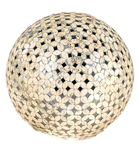 formano kugellampe Kugellampe, Leuchte CHAMPAGNER MOSAIK D. 15cm creme Glas Formano W17