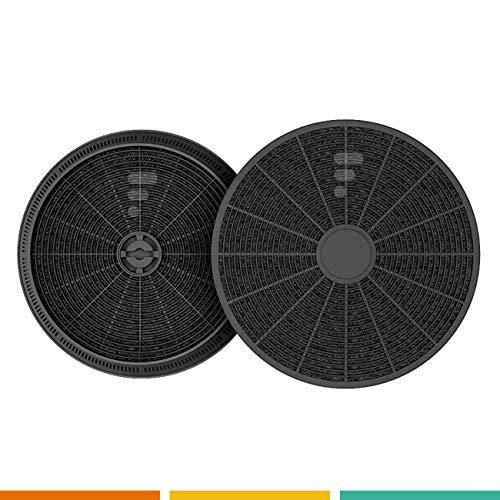 Kohlefilter / Aktivkohlefilter für Dunstabzugshaube FC05 - 2 Stück - passend für 145mm - ACM14 - CR310 - filk57772