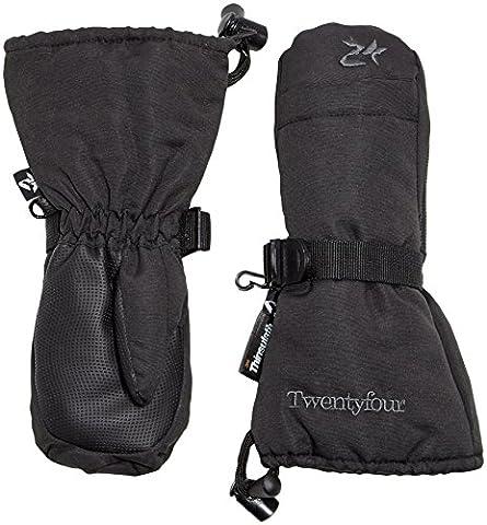 Twentyfour Elbrus Moufles Enfants - Moufles avec doublure Thinsulate Noir Noir 4
