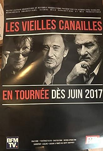 Les Vielles Canailles - Hallyday / Dutronc / Eddy Mitchell - 80x120cm - AFFICHE / POSTER